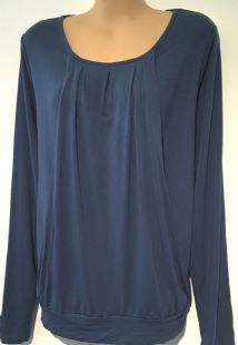 JOJO MAMAN BEBE BLUE LONG SLEEVED CASUAL TOP SIZE S 10-12